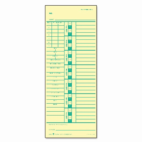 Time Card Templates Free Printable Luxury Time Card for Acroprint and Simplex Geographics