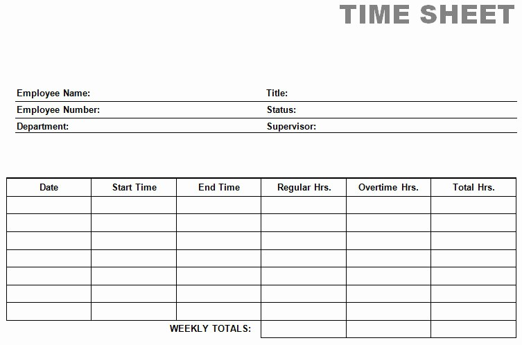 Time Card Templates Free Printable Unique Printable Blank Pdf Time Card Time Sheets
