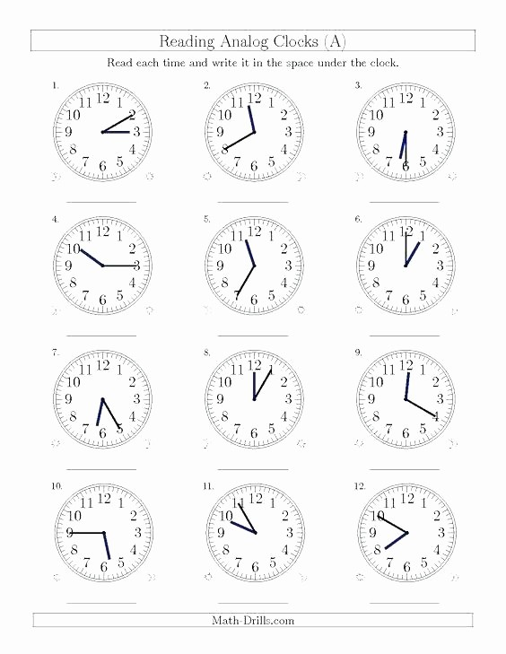Time Clock Correction form Template Elegant Free Printable Clock Worksheets for 3rd Grade Clocks
