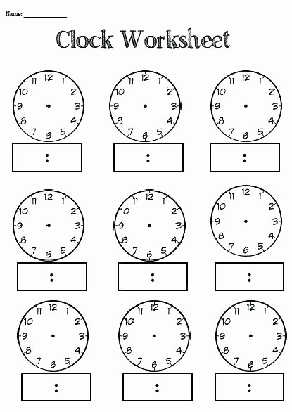 Time Clock Correction form Template Luxury Free Printable Clock Worksheets for 3rd Grade Clocks