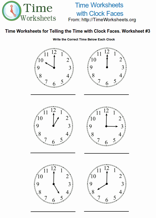 Time Clock Correction form Template Luxury Maths Clock Worksheets 1000 Images About Telling Time