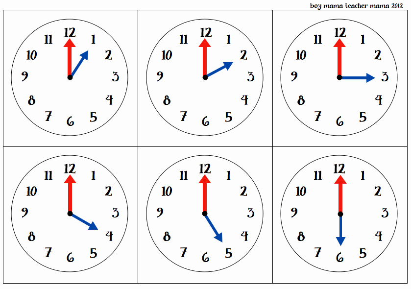 Time Clock Correction form Template Luxury Teacher Mama O'clock Cards Games for Teaching Time to