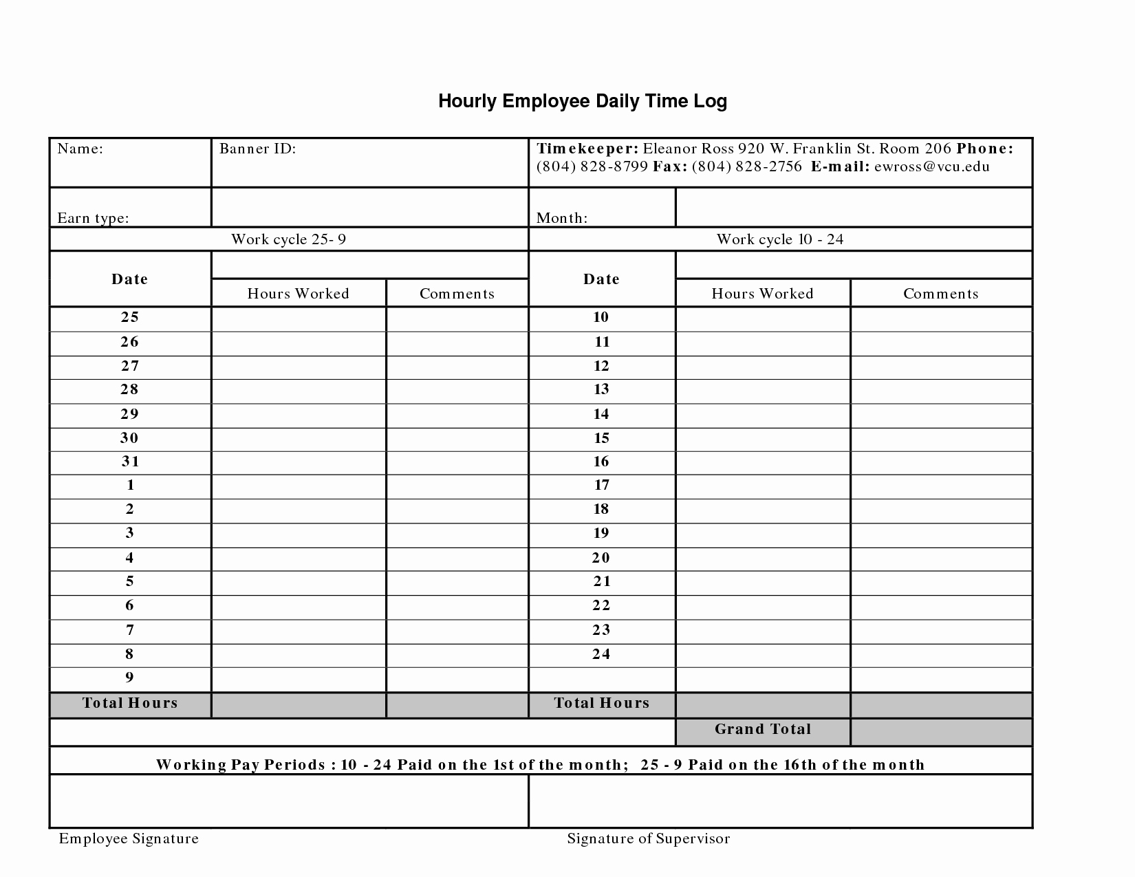Time Log Sheet for Employees Beautiful Best S Of Daily Job Sheet Template Construction