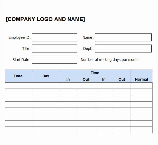 Time Log Sheet for Employees Fresh 11 Time Log Templates – Pdf Word