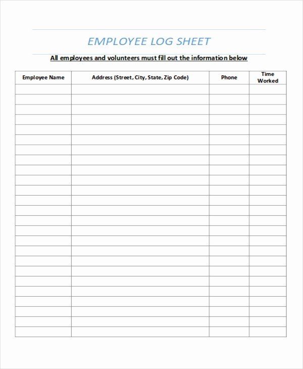 Time Log Sheet for Employees Inspirational Time Log for Employees How to Leave Time Log for Employees