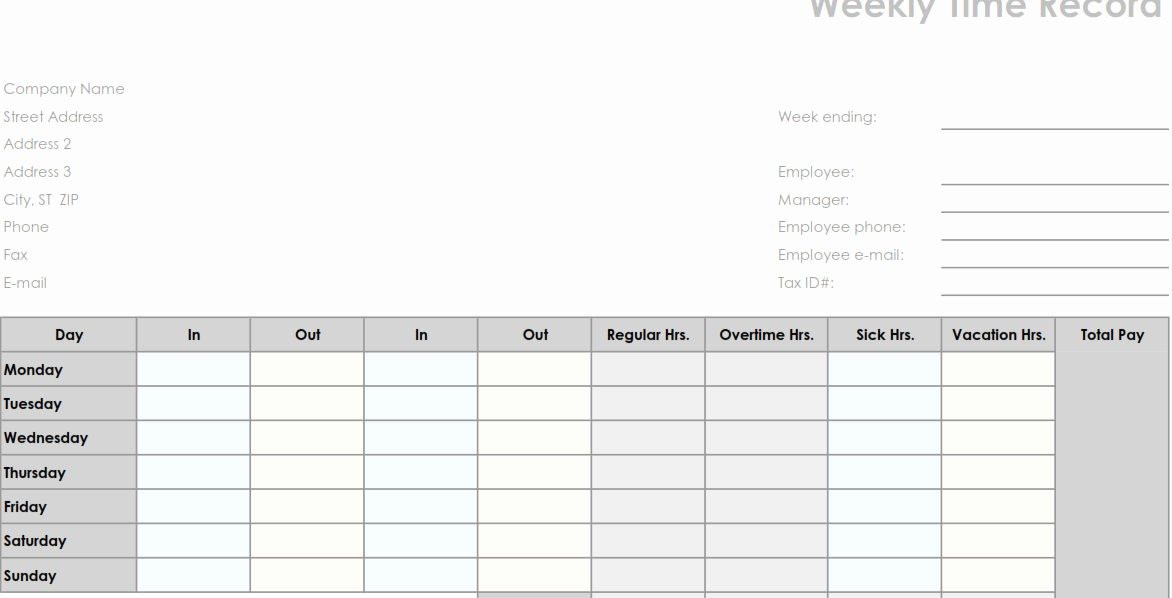 Time Log Sheet for Employees New New Time Sheets Printable
