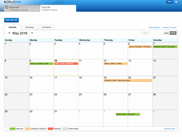 Time Off Calendar Template 2016 Awesome Pto Tracking Template Pertamini