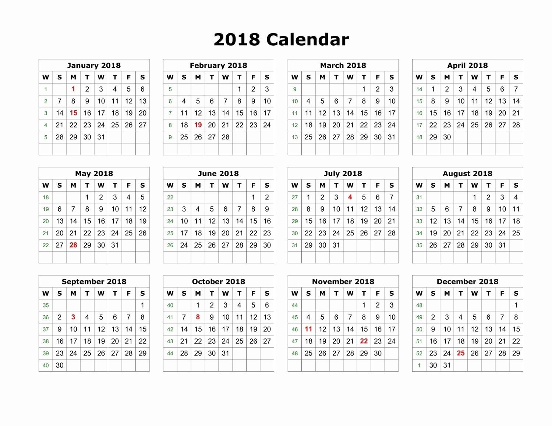 Time Off Calendar Template 2016 Beautiful Blank Printable Calendar 2018 Pdf – Printable Shelter