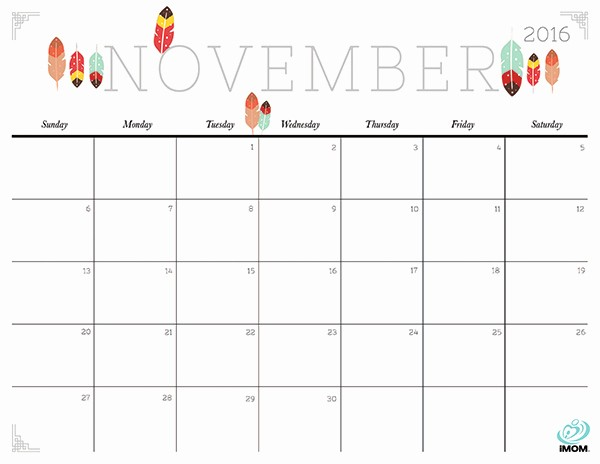 Time Off Calendar Template 2016 Elegant Cute and Crafty 2016 Printable Calendar