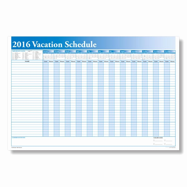 Time Off Calendar Template 2016 Lovely 2016 Free Printable Calendar for Vacation Time F