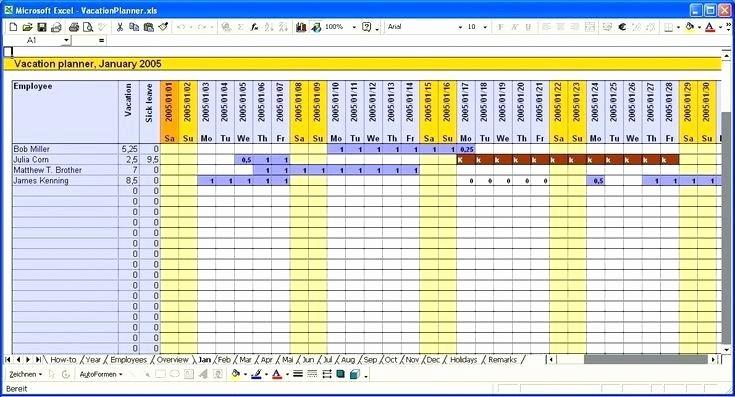 Time Off Calendar Template 2016 Lovely Employee Calendar Template Excel Schedule Vacation 2017