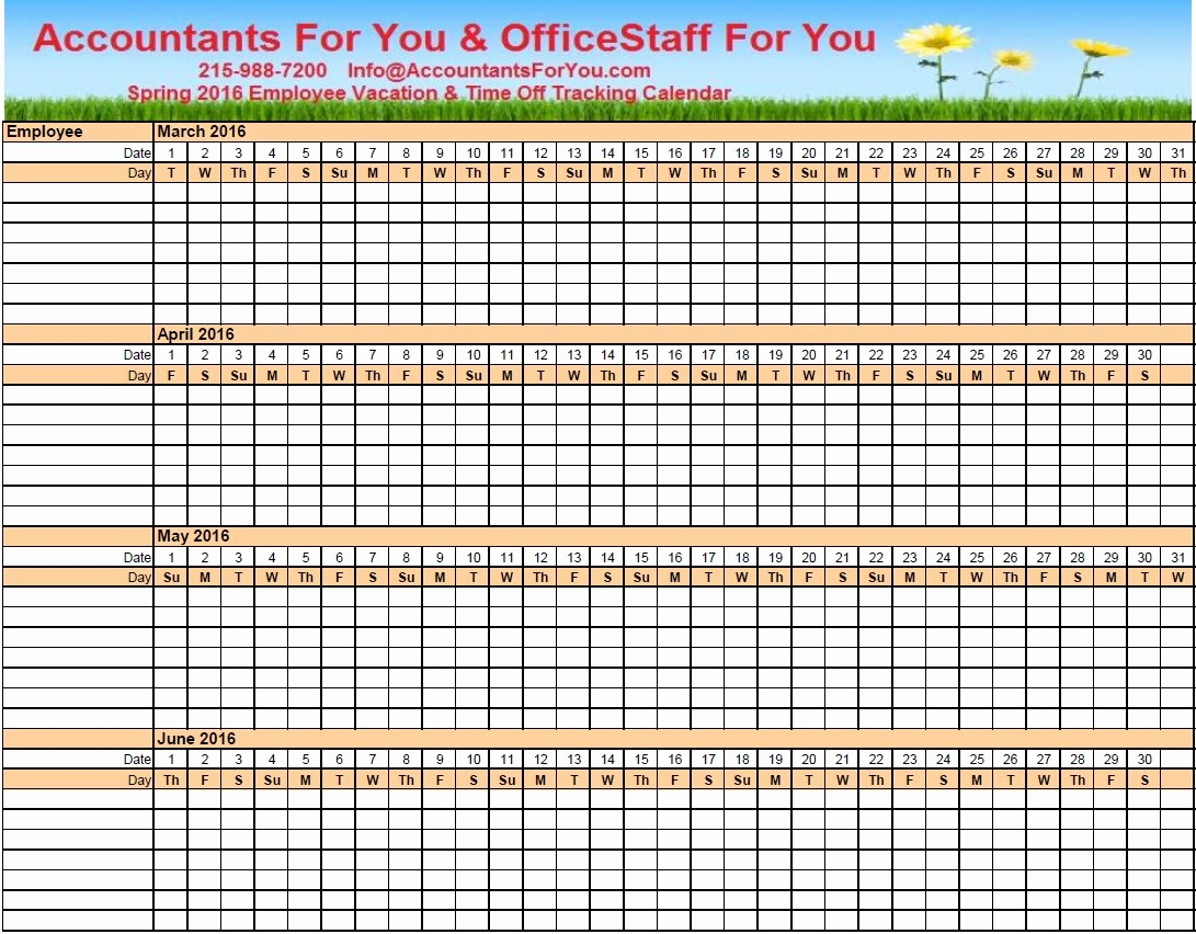 """Time Off Calendar Template 2016 Unique Search Results for """"vacation Tracker Excel"""" – Calendar 2015"""