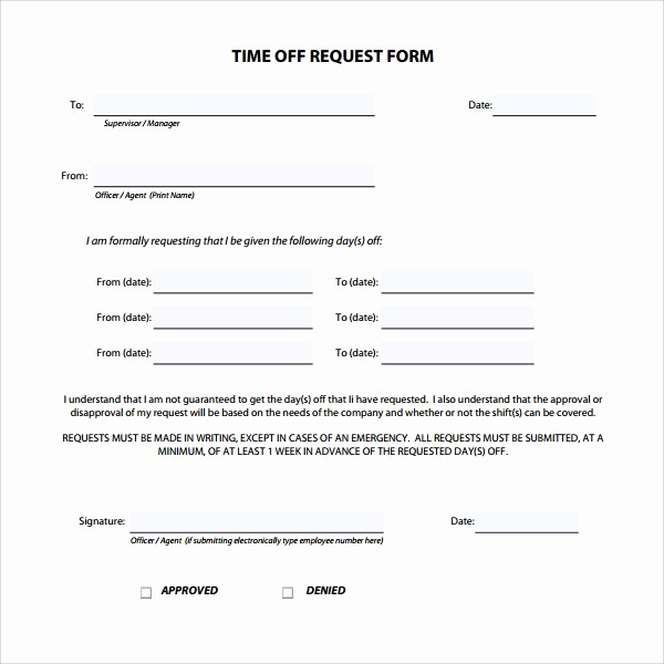 Time Off Calendar Template 2016 Unique Time F Request form 24 Download Free Documents In Pdf