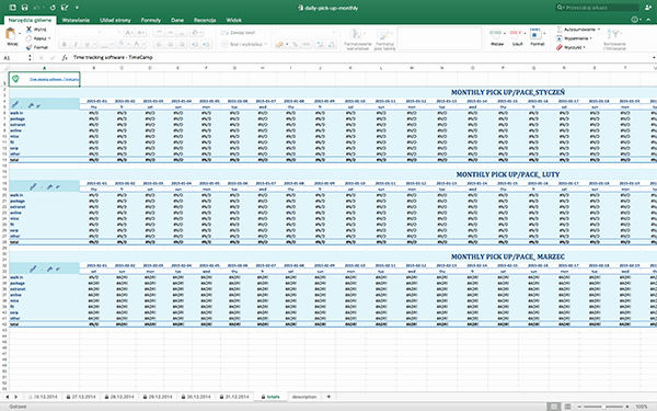 free timesheet excel templates