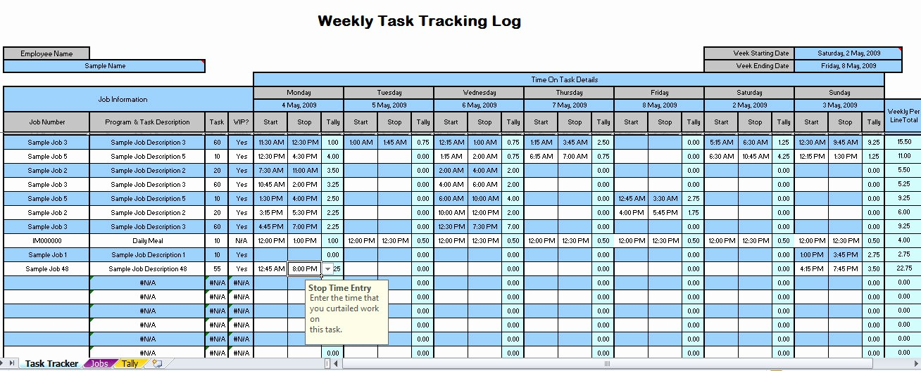Time Tracking Excel Template Free Inspirational Weekly Time Tracking Spreadsheet