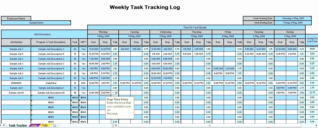 Time Tracking Excel Template Free Lovely Time Log Template Excel Employee Management Sheet
