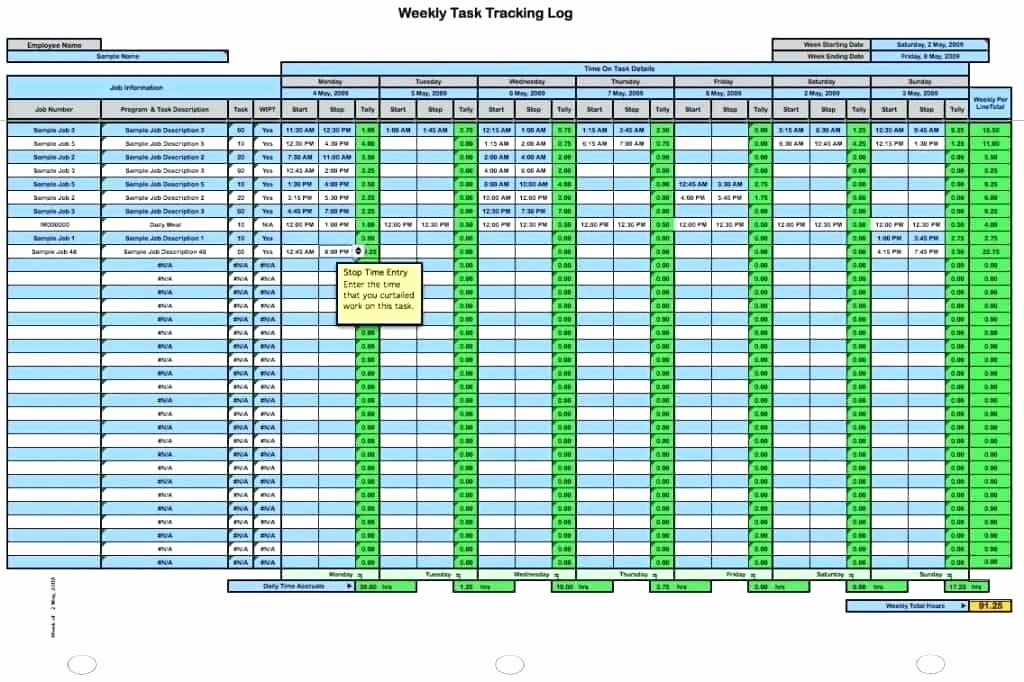 Time Tracking Excel Template Free New Job Tracker Template Work Time Spreadsheet Tracking