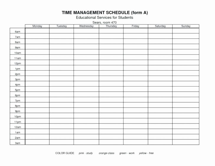 Time Tracking Excel Template Free Unique Time Management Example for Students Spreadsheet Excel
