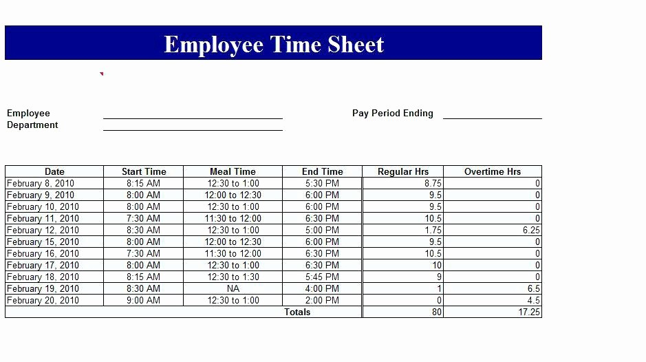 Timecard In Excel with formulas Beautiful Time Log Template Excel Employee Management Sheet