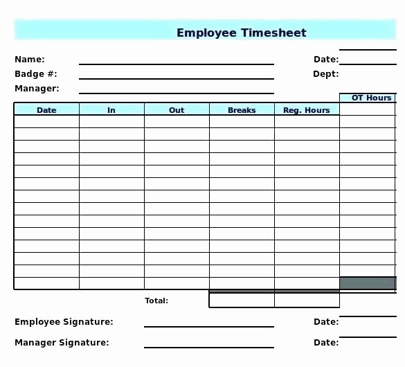 Timecard In Excel with formulas Fresh Excel Timecard Template Daily Download In format Monthly