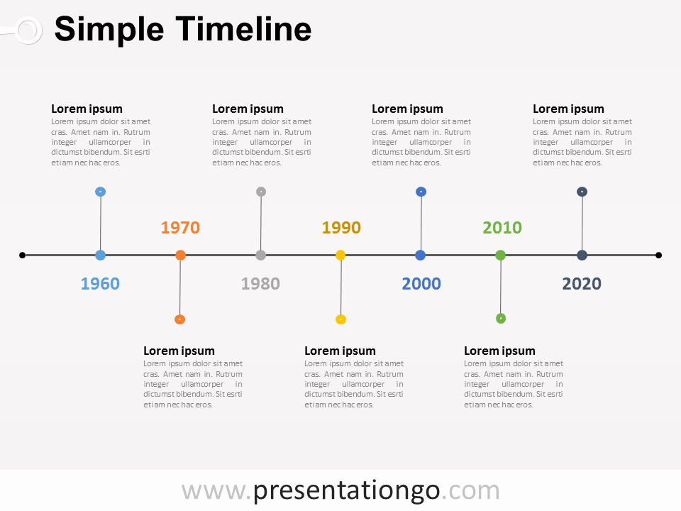 Timeline Of events Template Word Elegant Free Timelines Powerpoint Templates Presentationgo