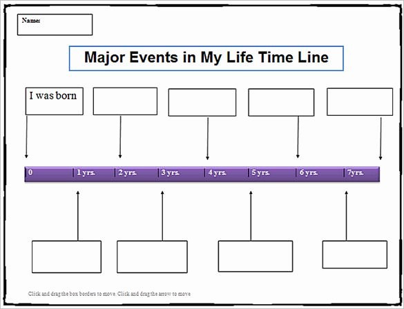 Timeline Of events Template Word Unique 8 Personal Timeline Templates Doc Ppt Psd