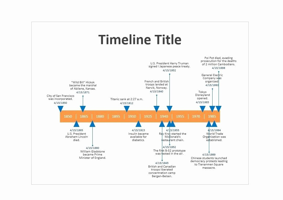Timeline Templates for Microsoft Word Awesome 30 Timeline Templates Excel Power Point Word