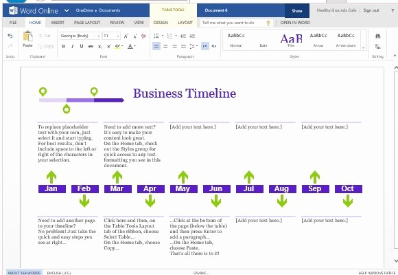Timeline Templates for Microsoft Word Fresh Business Project Timeline Template for Word Line