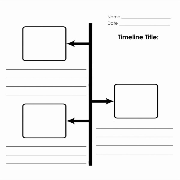 Timeline Templates for Microsoft Word Luxury Blank Timeline Template 6 Free Download for Pdf
