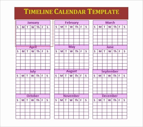 Timeline Templates for Microsoft Word New 7 Calendar Timeline Templates Doc Excel