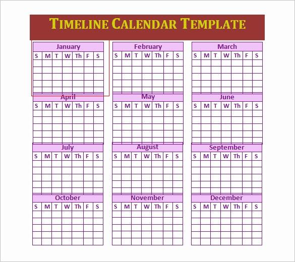 Timeline Templates for Microsoft Word New 7 Calendar Timeline Templates Doc Excel