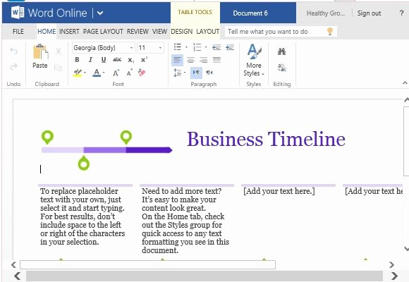 Timeline Templates for Microsoft Word Unique Business Project Timeline Template for Word Line