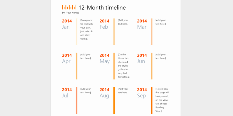 Timeline Templates for Microsoft Word Unique Every Timeline Template You'll Ever Need the 18 Best