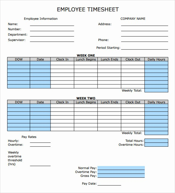 Timesheet Sign In and Out Beautiful 9 Sample Employee Timesheet Calculator Templates
