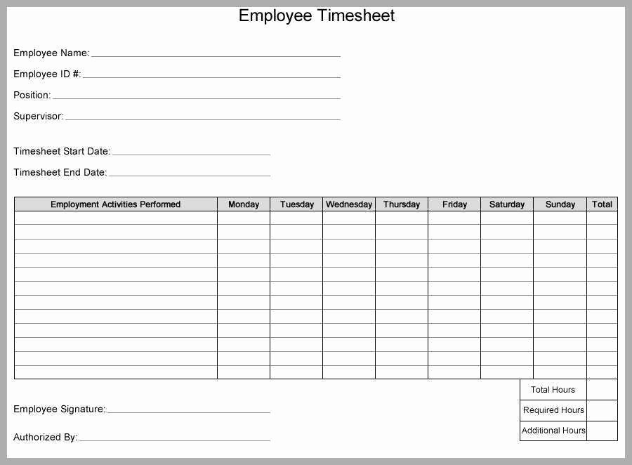 Timesheet Sign In and Out Best Of Weekly Timesheet Template for Multiple Employees Best