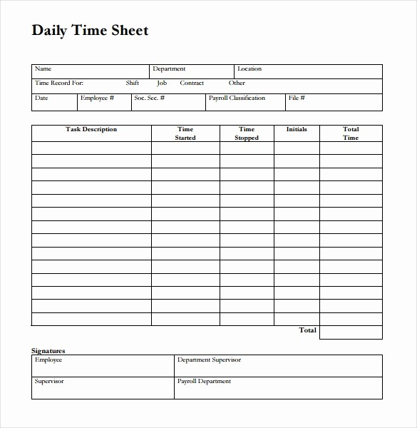 Timesheet Sign In and Out Lovely 26 Blank Timesheet Templates – Free Sample Example