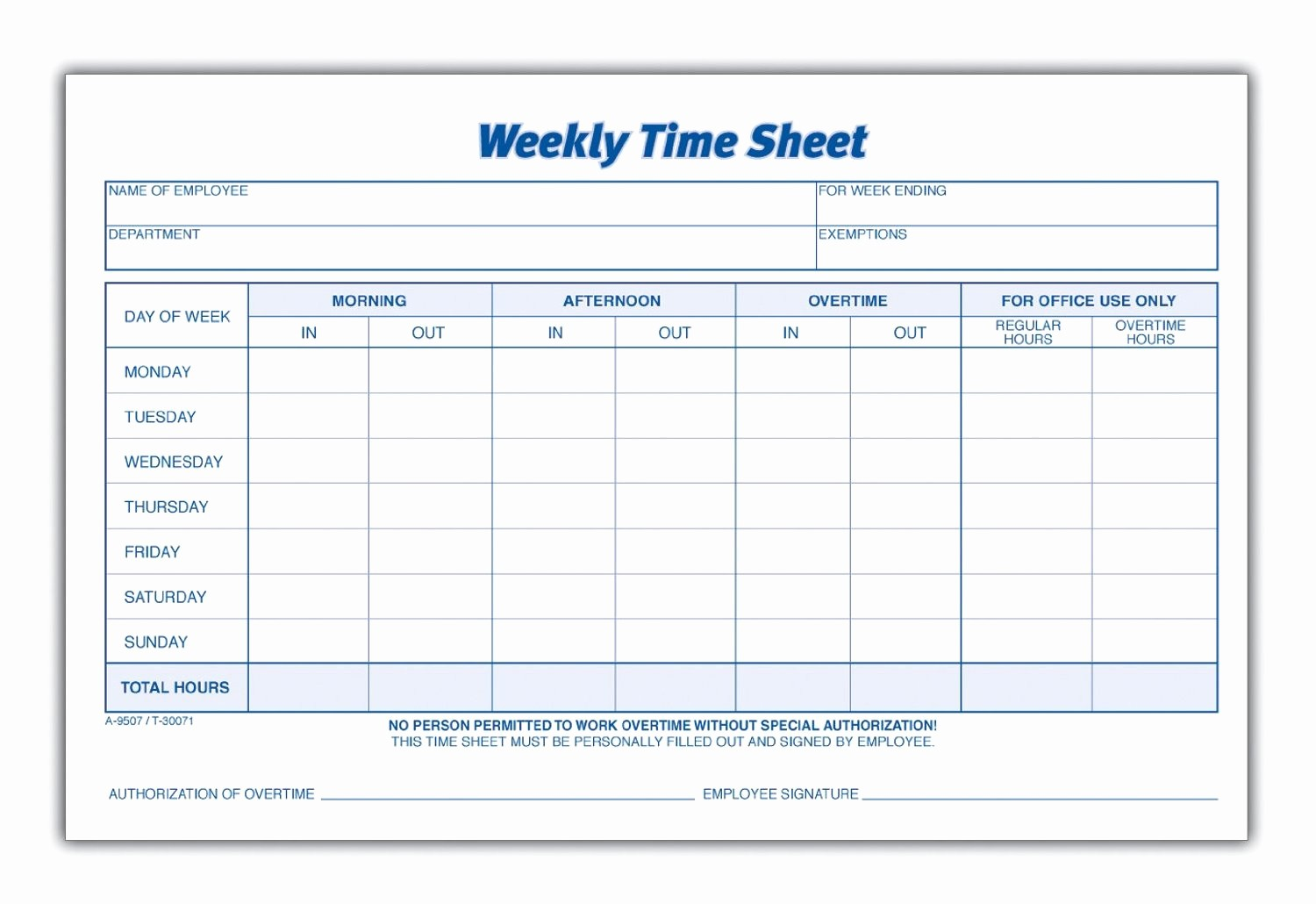 Timesheet Sign In and Out New 8 Best Of Blank Printable Timesheets Free