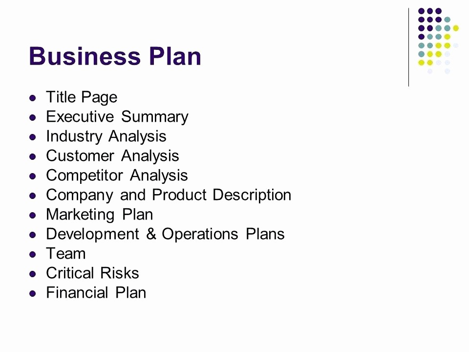 Title Page with Executive Summary Fresh What is Industry Analysis In A Business Plan – Blogopoly