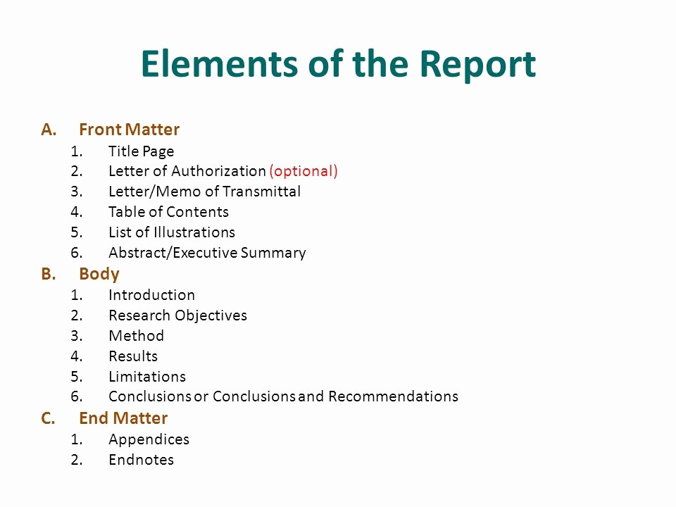 Title Page with Executive Summary Inspirational 15 the Research Report Ppt Video Online