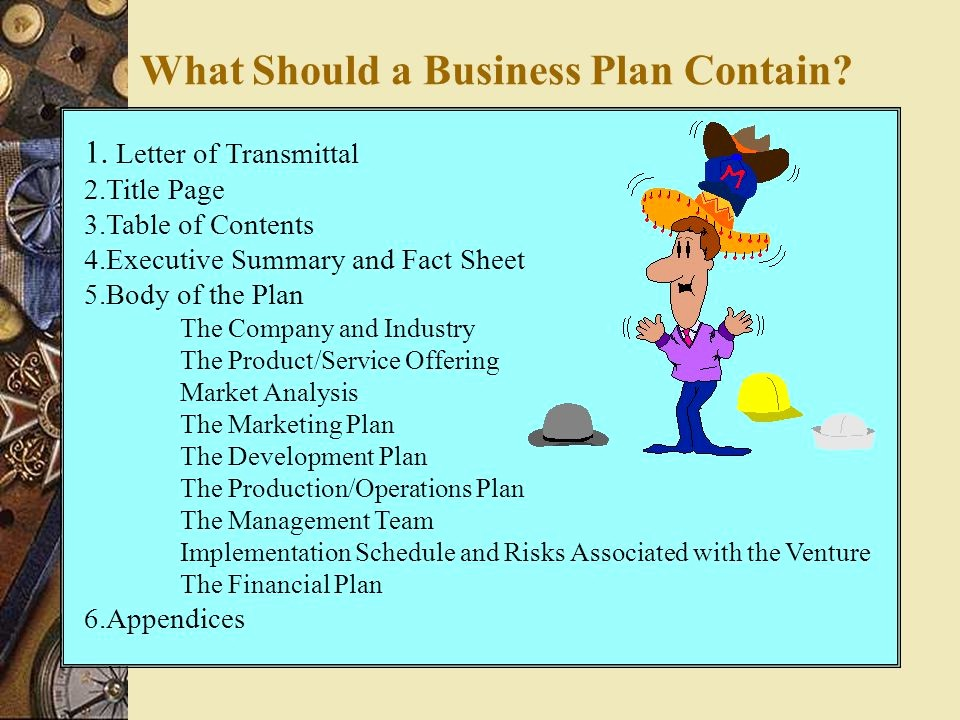 Title Page with Executive Summary Unique Preparing Your Business Plan Ppt Video Online