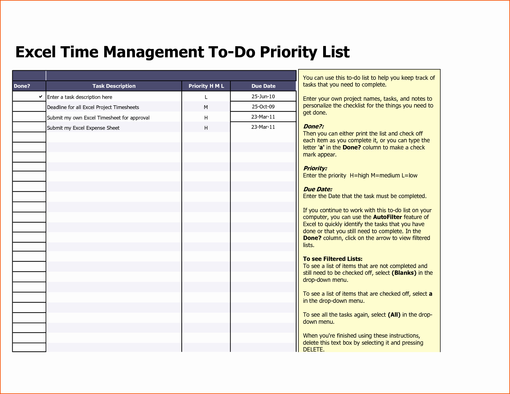 To Do List Excel Templates New 8 Excel to Do List Template Bookletemplate