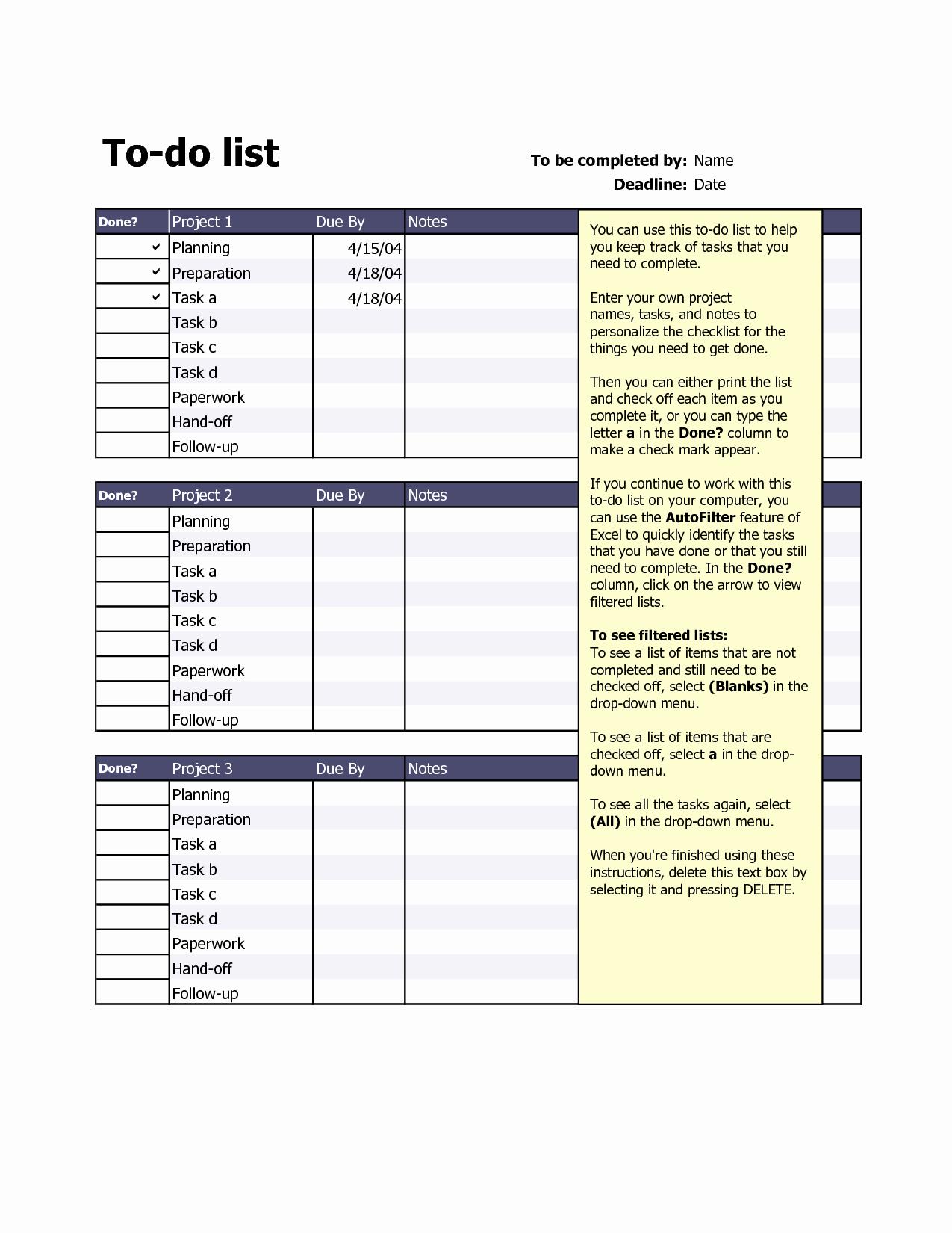 To Do List Excel Templates Unique Best S Of Excel Do List Template to Do Task List