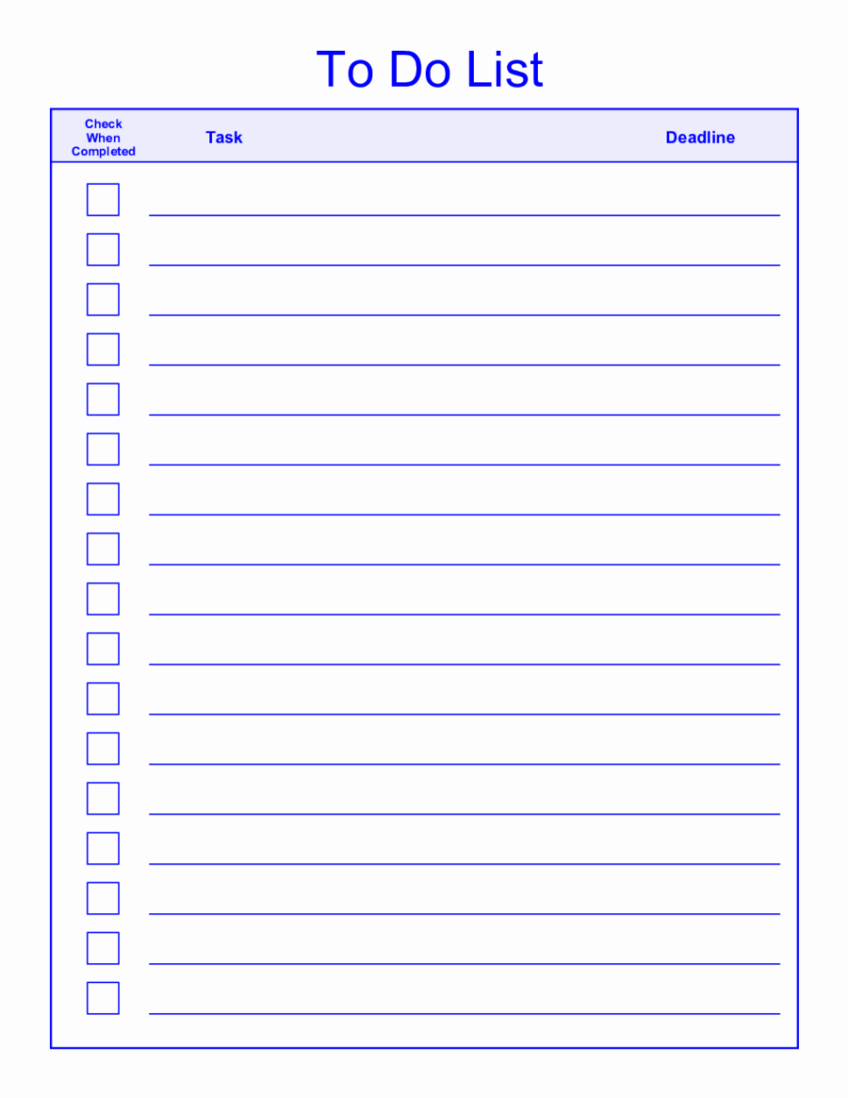 To Do List Free Download Awesome the Gallery for Weekly to Do List Template