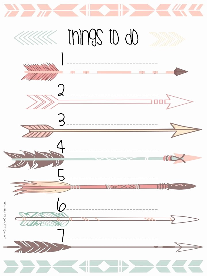 To Do List Free Download Beautiful to Do List Template