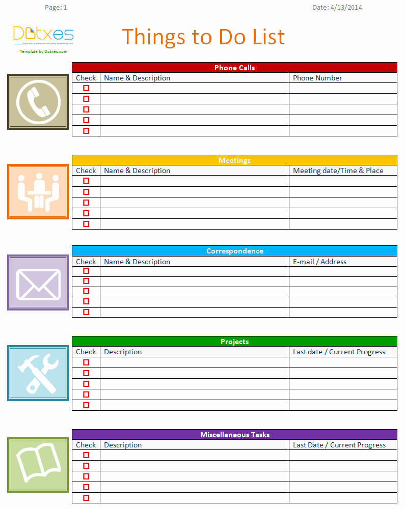 To Do List Free Download Elegant to Do List Template Business Version Dotxes