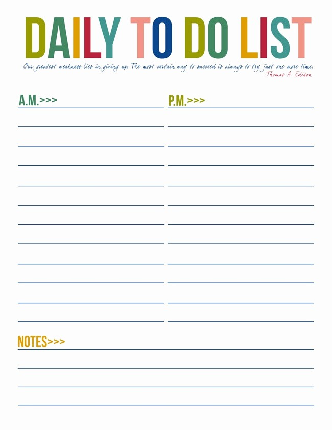 To Do List Free Download Fresh Daily Printable to Do List Templates Daily to Do List Dc