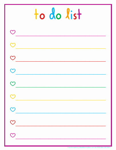 To Do List Free Download Inspirational Colorful Printable Daily Checklist for Keeping Up with Stuff