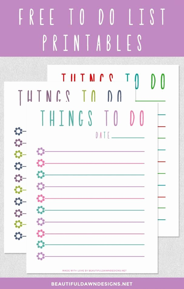 To Do List Free Templates Best Of 17 Best Images About Calendar & Planner Printables On