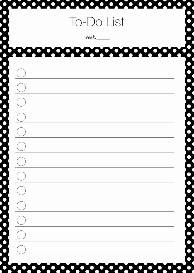 To Do List Free Templates Lovely 40 Printable to Do List Templates