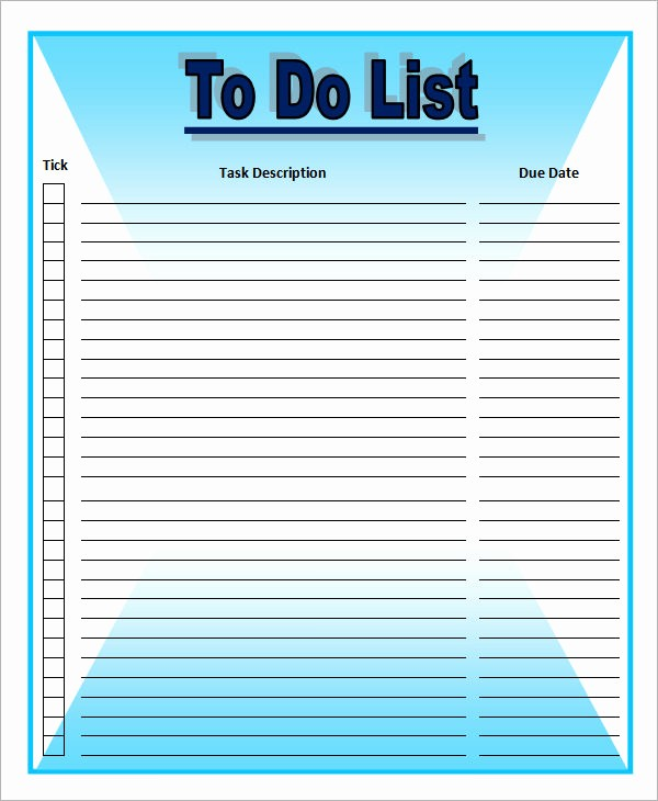 To Do List Free Templates Lovely to Do List Template 16 Download Free Documents In Word